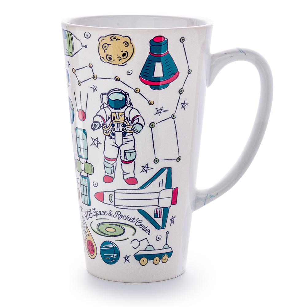 Space Icons Tall Latte Mug,01/8341