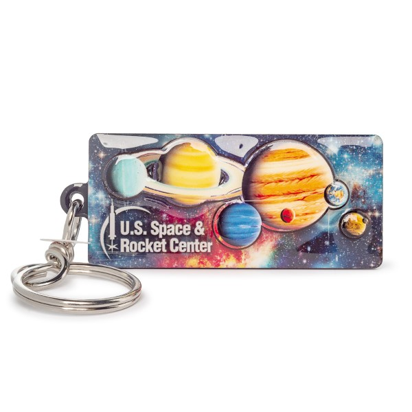 Dual Level Panorama Planets Keychain,14/0040
