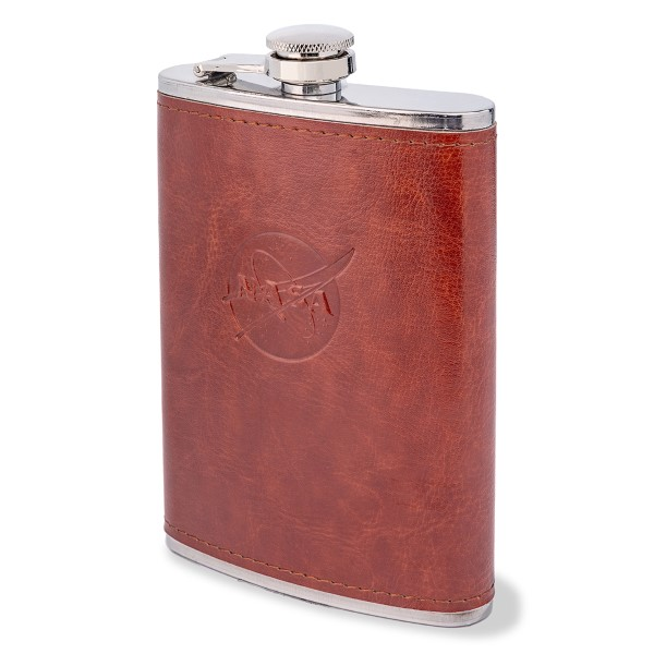 NASA Leather-Wrapped Flask,NASA,DNK840/DS22783-C1