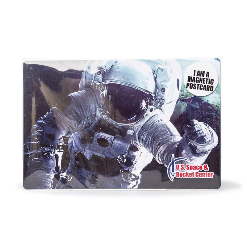 Astronaut in Space Magnetic Postcard,55186
