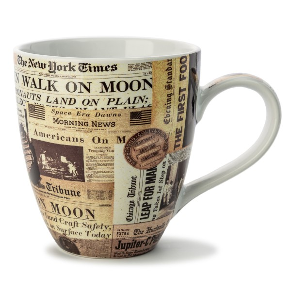 Newspaper Art Mug,50TH ANNIVERSARY,02/8793 IMP