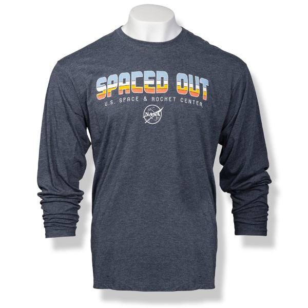 Wide Ruled Space Out Long Sleeve T-Shirt,TRILS825/W601SPACE-M