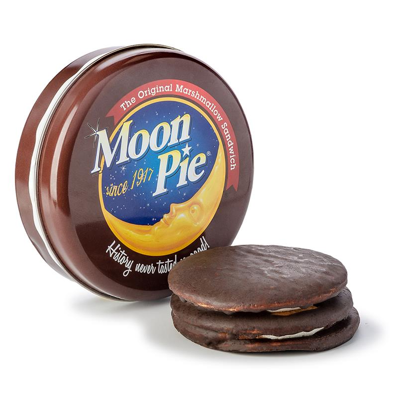 Round Tin with Double Decker Moon Pie