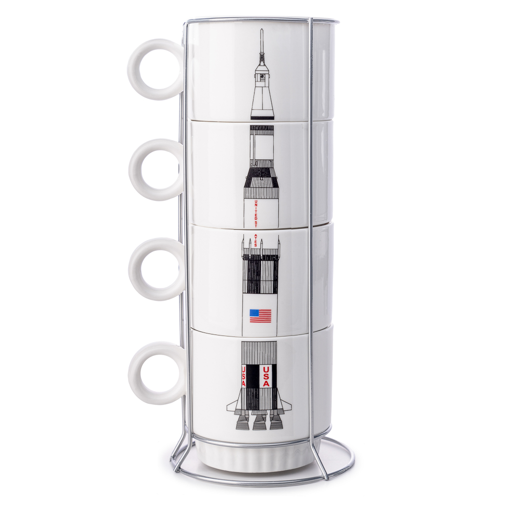 Saturn V Nesting Cup Set,ROCKET CENTER,DS24728/CER151
