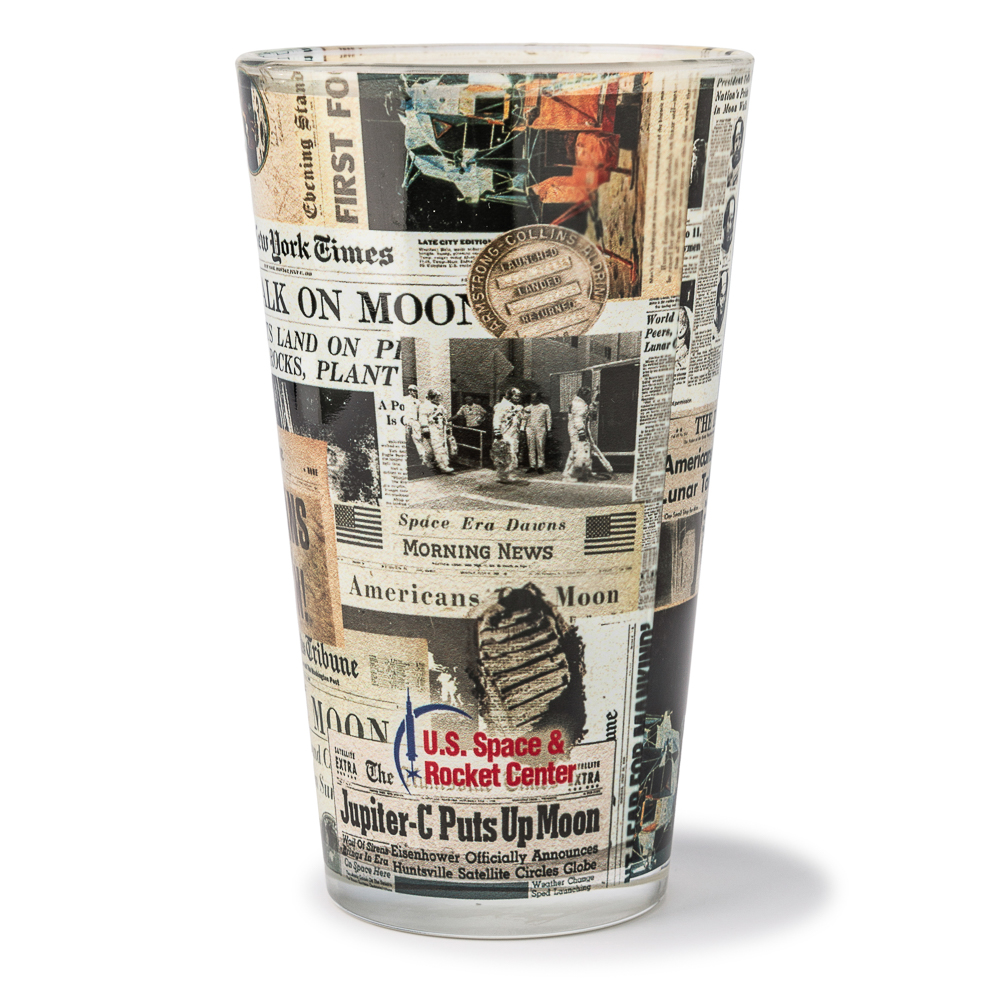Newspaper Pint Glass,50TH ANNIVERSARY,08/8715 DOM