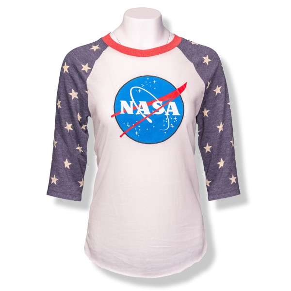 NASA Star 3/4 Sleeve T-Shirt,NASA,2089EA