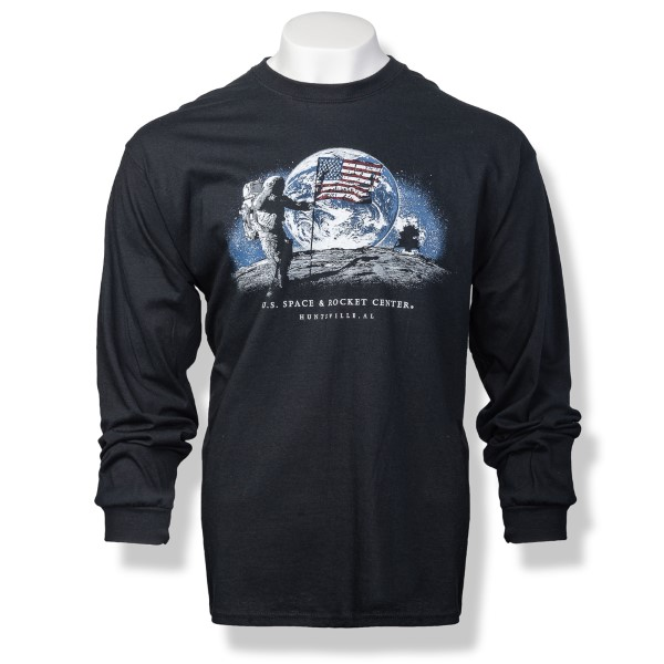Night Moon Landing Long Sleeve T-Shirt,50TH ANNIVERSARY,S16807/300A