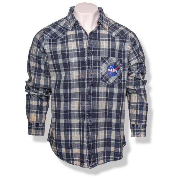 NASA Vector Plaid Button-Down Shirt,NASA,S131872/85060