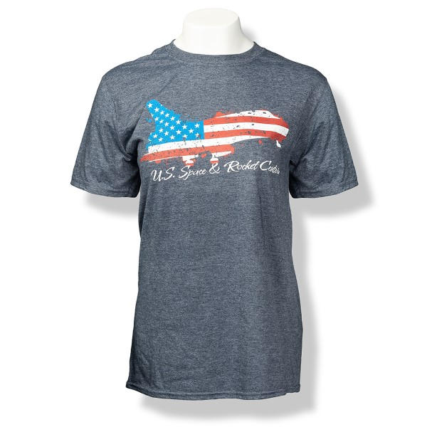 Patriotic Shuttle Euro-Fit Men's T-Shirt,S132056/7433/64000
