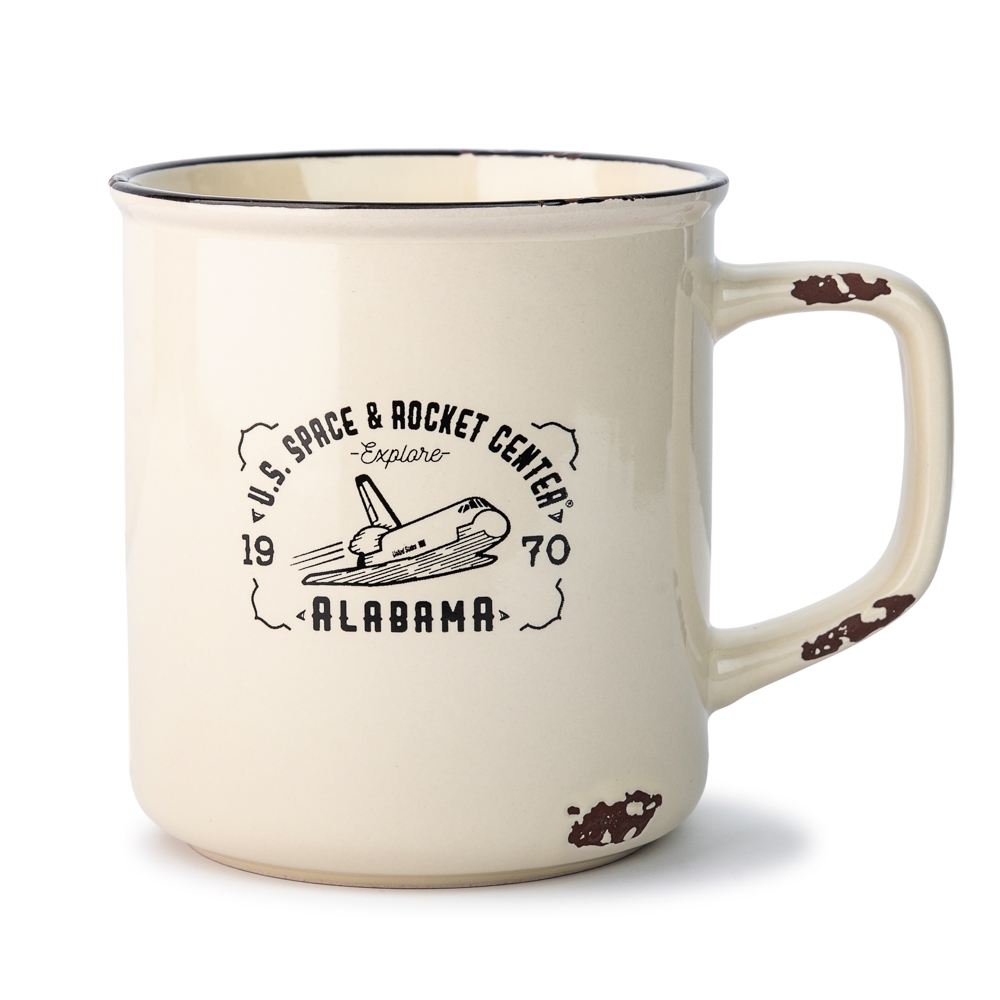 Shuttle Distressed Camp Mug,S132058/7437/MS260