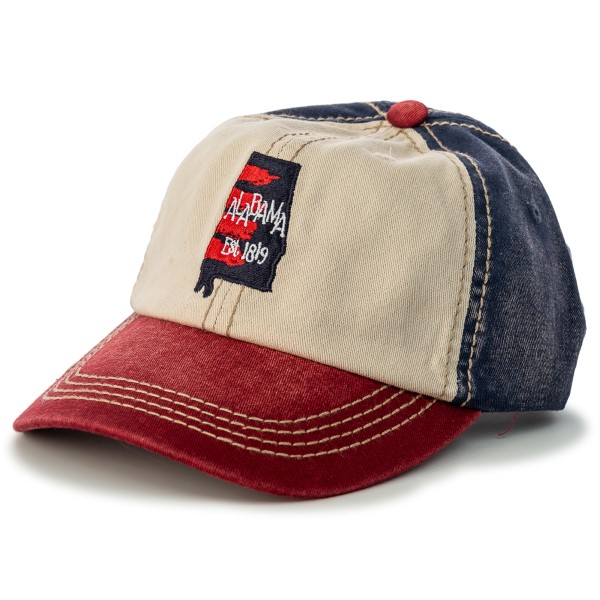 Watercolor State of Mind Triple Tone Color Blocked Hat,ROCKET CITY USA,S137979/7476/PH224
