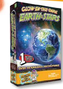 Glow In the Dark Earth & Stars,GLOWEARTH