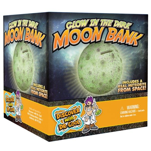 Glow in the Dark Moon Bank,MOONBANK