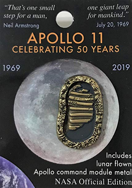 Apollo 11, 50th First Footprints Pin,50TH ANNIVERSARY,JN0296AB-50