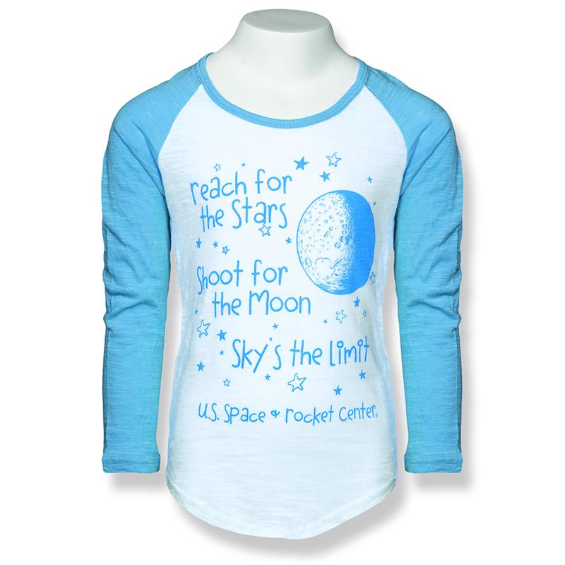 Reach for the Stars Youth Girls Baseball Tee,22290