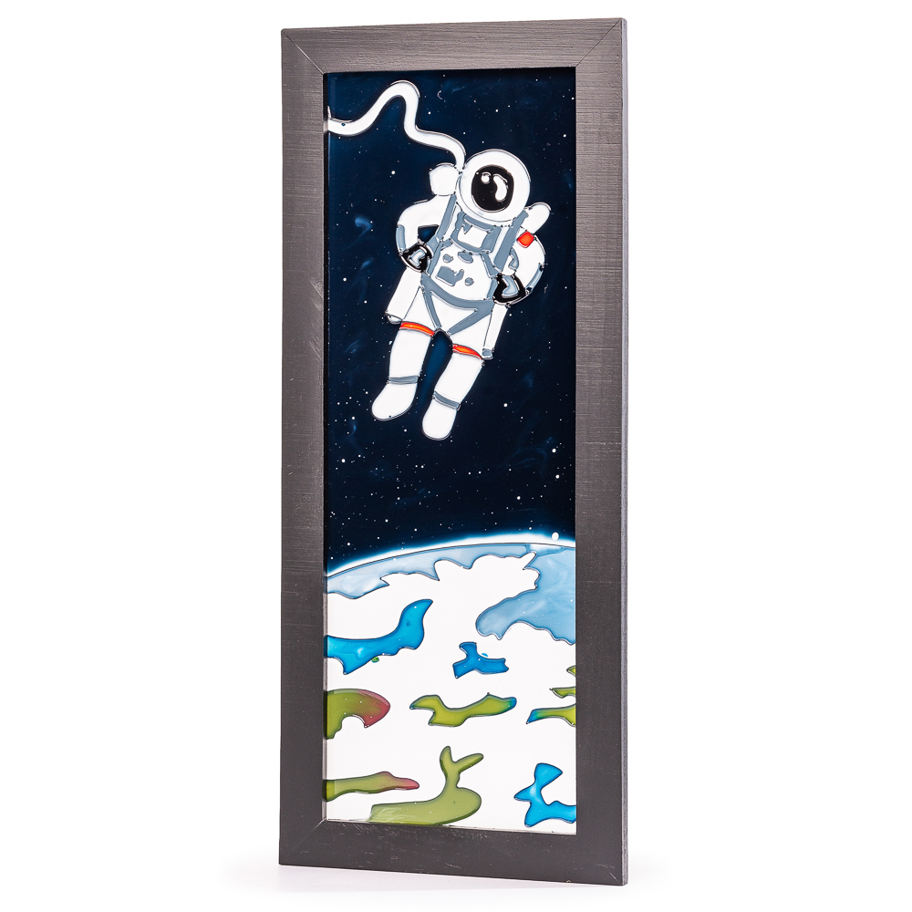 Astronaut Hand Painted Glass