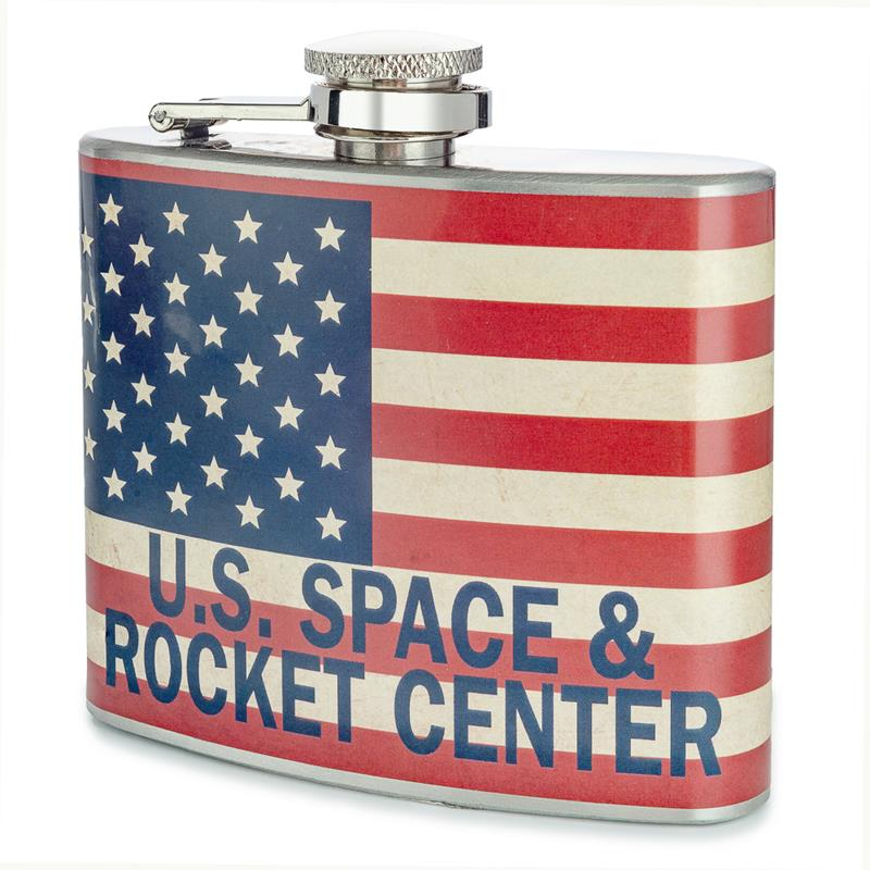 Rocket Center Flag Flask,ROCKET CENTER,DNK860 DOM