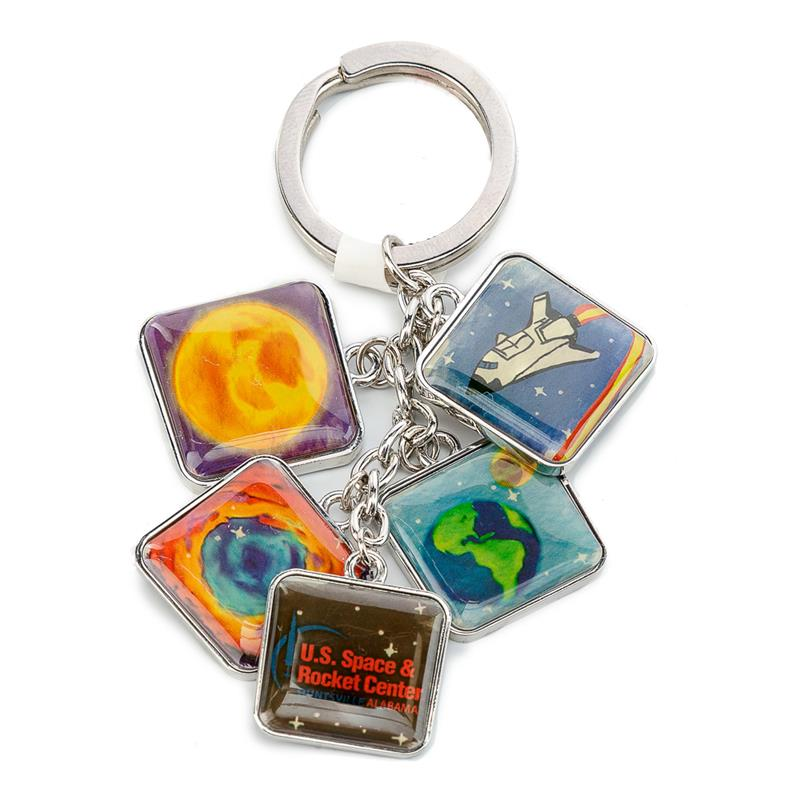 Square Dangle Keychain,KEY219 IMP